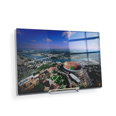 Tennessee Volunteers - Aerial Neyland on the Tennessee River - College Wall Art #Acrylic Mini