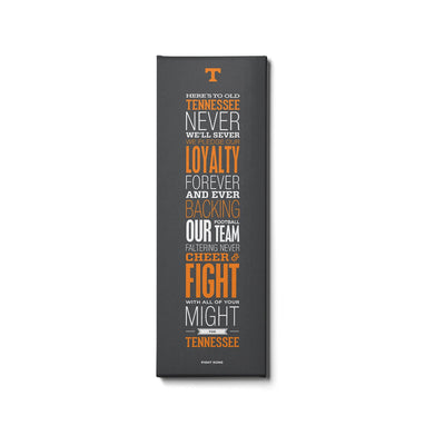 Tennessee Volunteers - Fight Song Grey - College Wall Art #Canvas