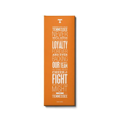 Tennessee Volunteers - Fight Song Orange - College Wall Art #Canvas