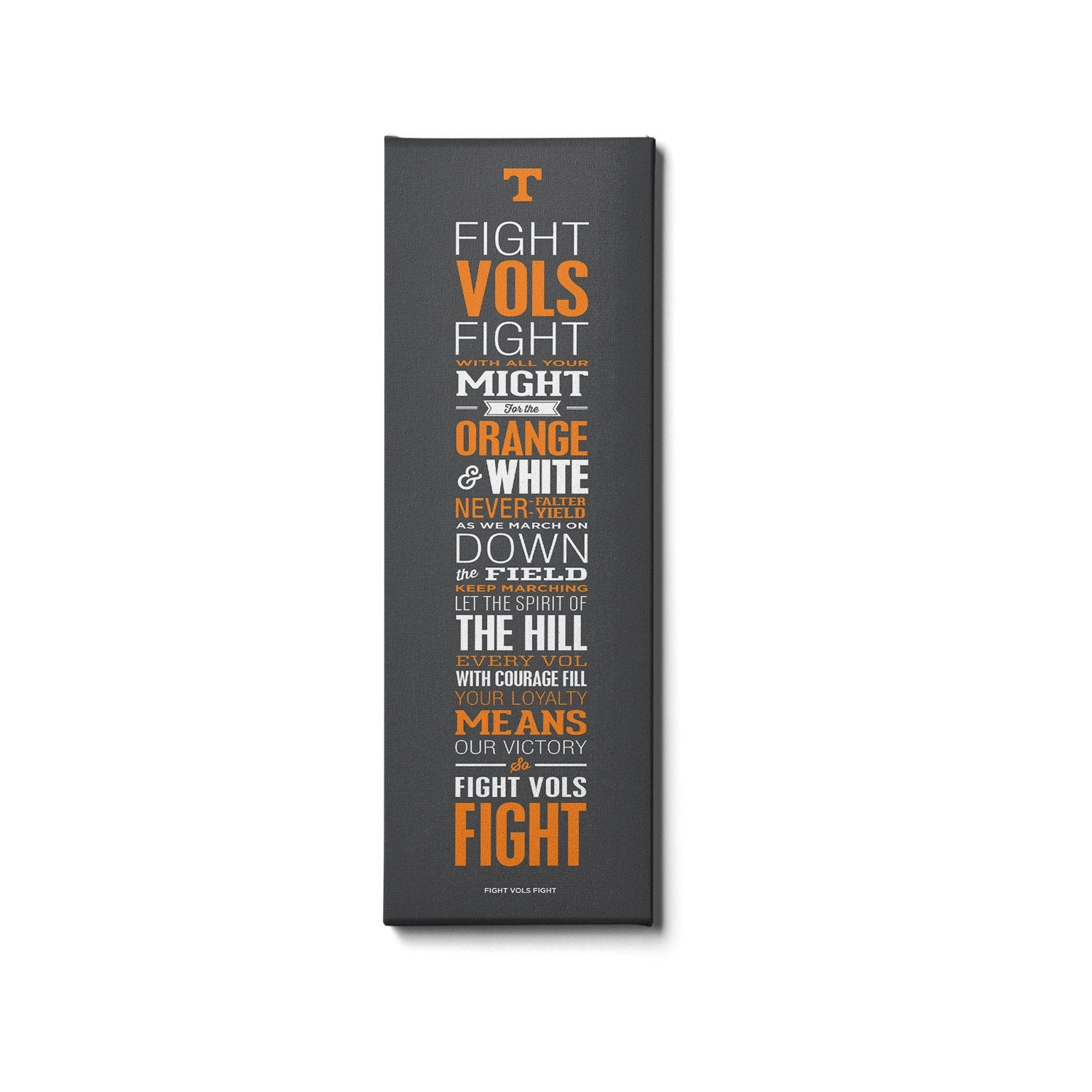Tennessee Volunteers - Fight Vols Fight - College Wall Art #Canvas