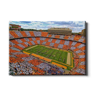 Tennessee Volunteers - Aerial Neyland Checkerboard - College Wall Art #Canvas