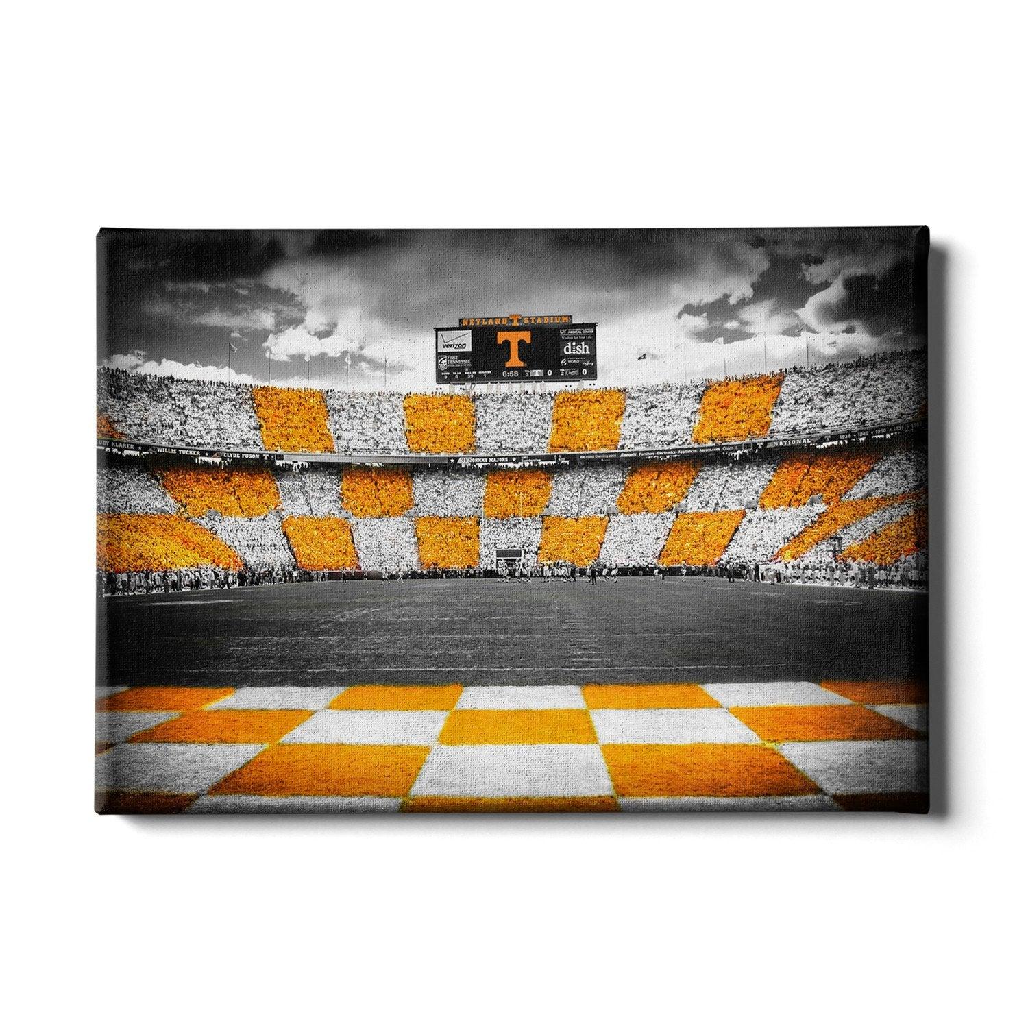 Tennessee Volunteers - Checkerboard Neyland - College Wall Art #Canvas