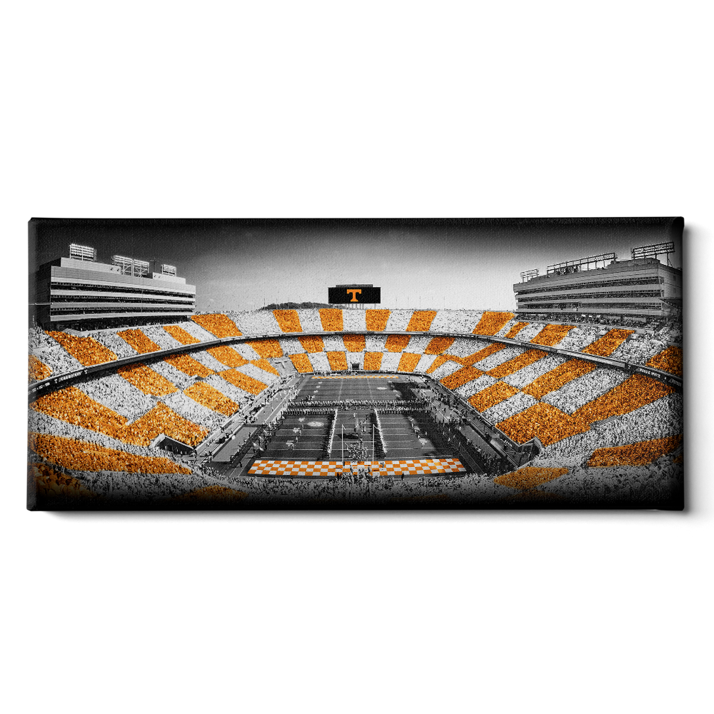 Tennessee Volunteers - Checkerboard Neyland B&W - College Wall Art #Canvas