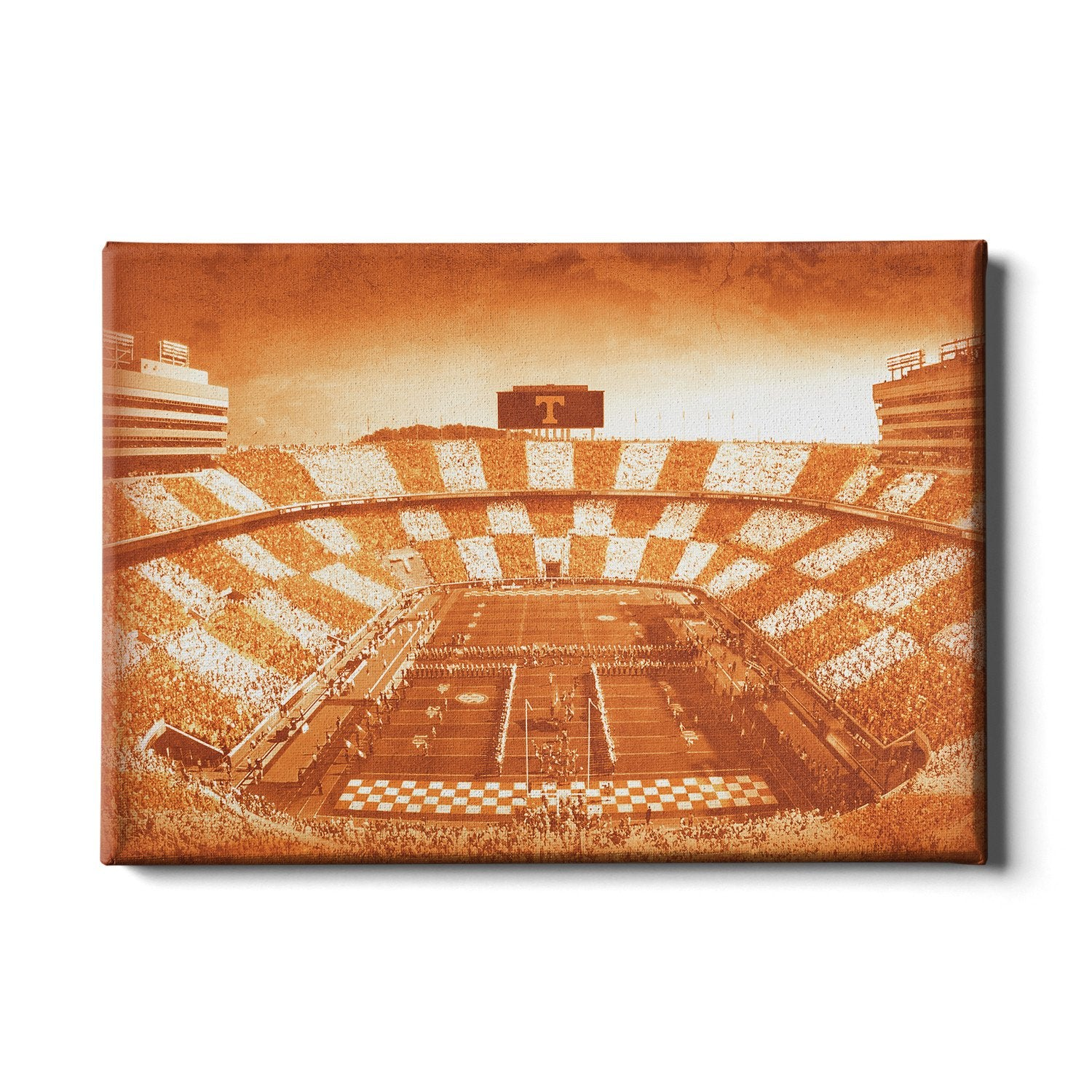 Tennessee Volunteers - Antique Neyland Checkerboard - College Wall Art #Canvas