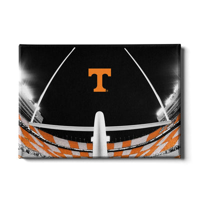 Tennessee Volunteers - Checkerboard Goal Post - College Wall Art #Canvas