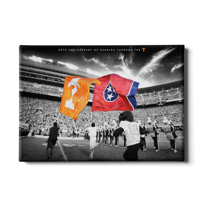 Tennessee Volunteers - 50 Years Running Through the T - College Wall Art #Canvas