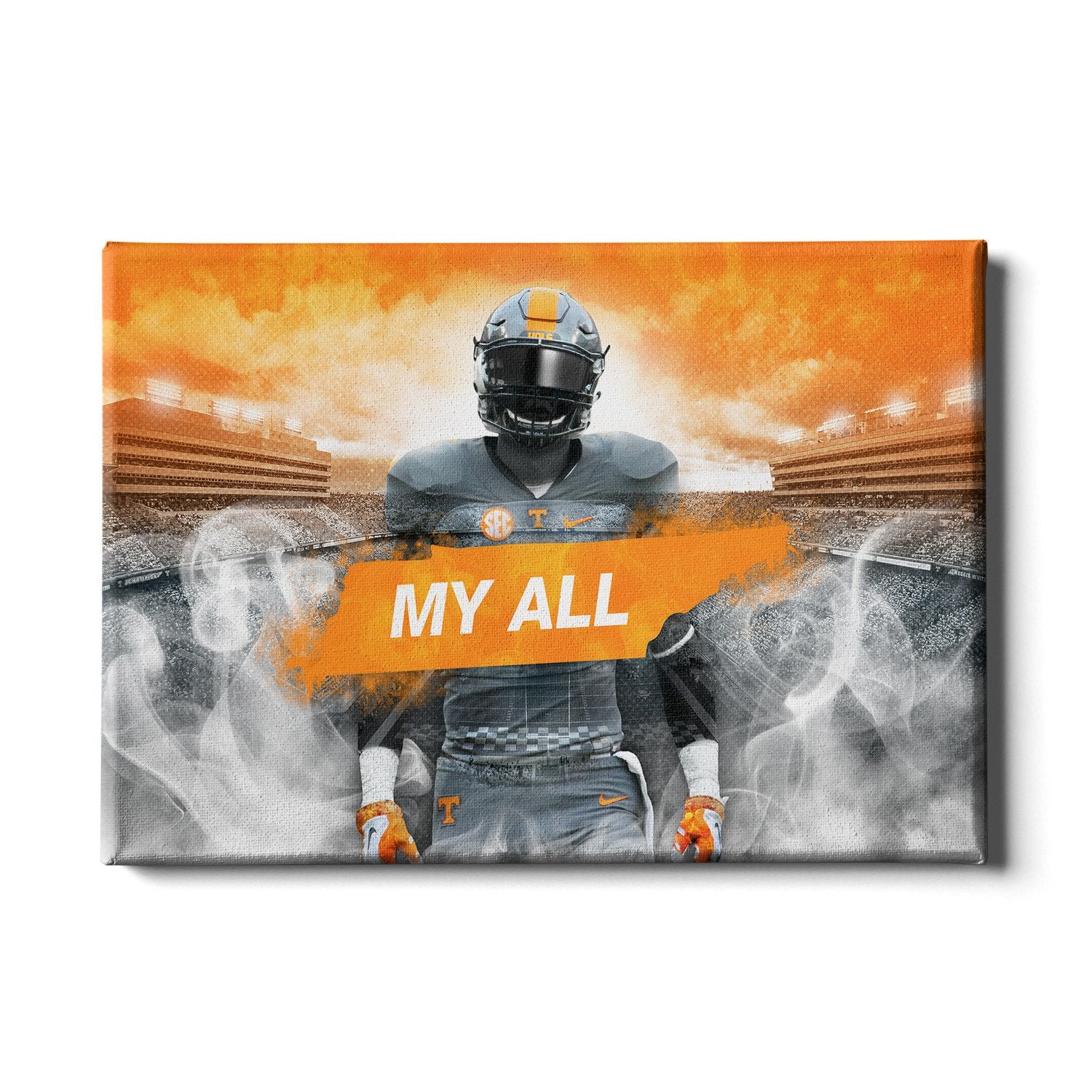 Tennessee Volunteers - Smokey Gray My All - College Wall Art #Canvas
