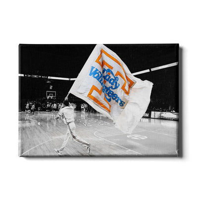 Tennessee Volunteers - Lady V-O-L-U-N-T-E-E-R - College Wall Art #Canvas