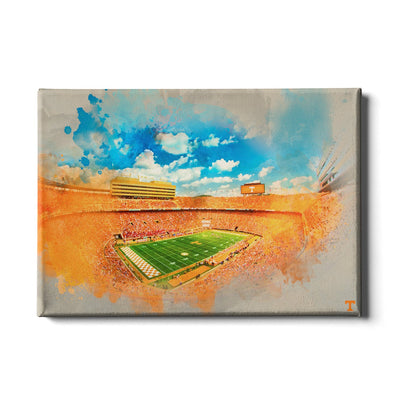 Tennessee Volunteers - Neyland Watercolor - College Wall Art #Canvas