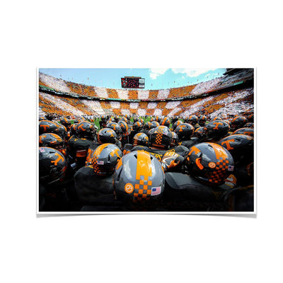 Tennessee Volunteers - Running onto the Field TN - College Wall Art #Poster