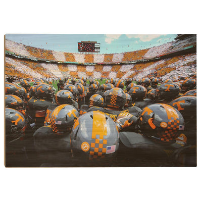 Tennessee Volunteers - Running onto the Field TN - College Wall Art #Wood