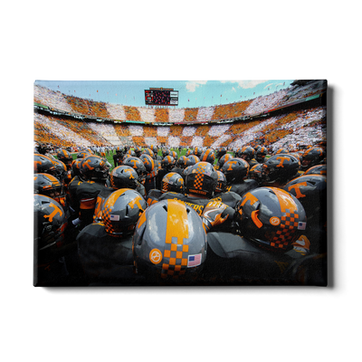 Tennessee Volunteers - Running onto the Field TN - College Wall Art #Canvas