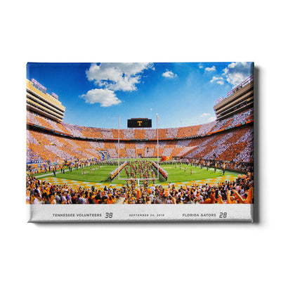 Tennessee Volunteers - Running Through the T UT-FL Score - College Wall Art #Canvas