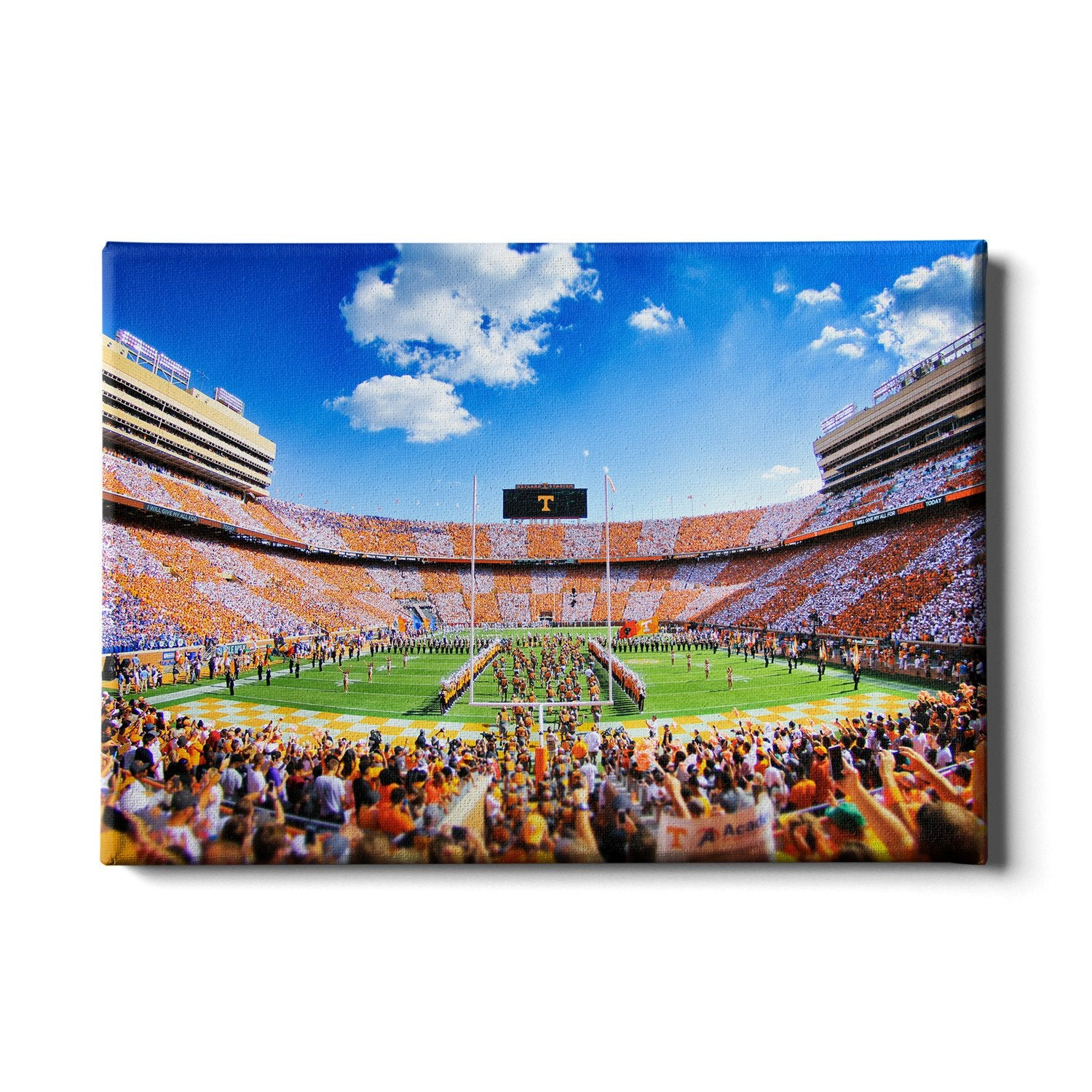 Tennessee Volunteers - Reverse Checkerboard Running thru the T - College Wall Art #Canvas