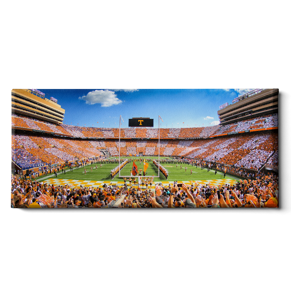 Tennessee Volunteers - Neyland Checkerboard Pano - College Wall Art #Canvas