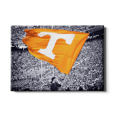Tennessee Volunteers - Smokey Flag - College Wall Art #Canvas