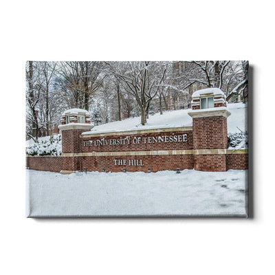 Tennessee Volunteers - Snowy Hill - College Wall Art #Canvas