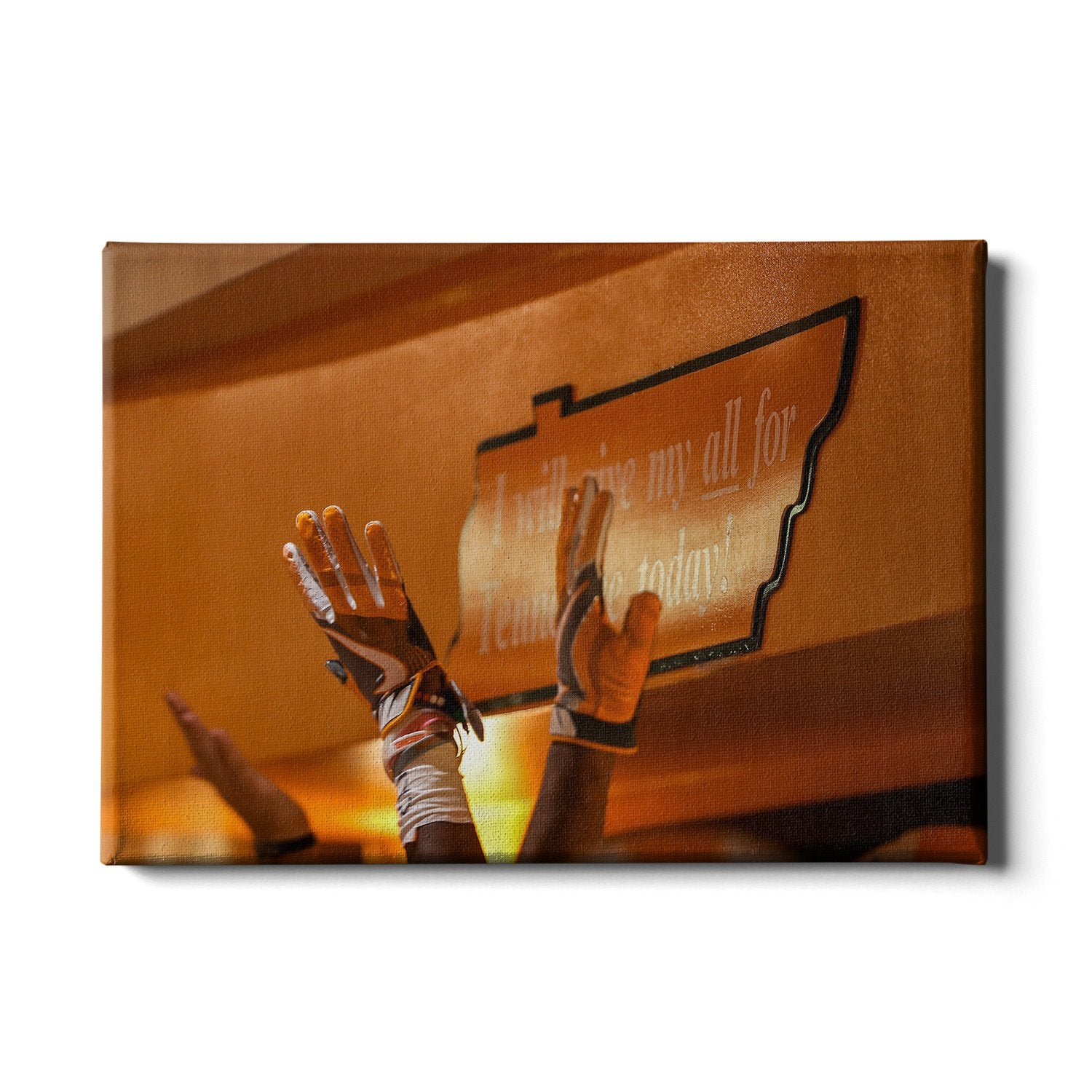 Tennessee Volunteers - I Will Give My All High Five - College Wall Art #Canvas