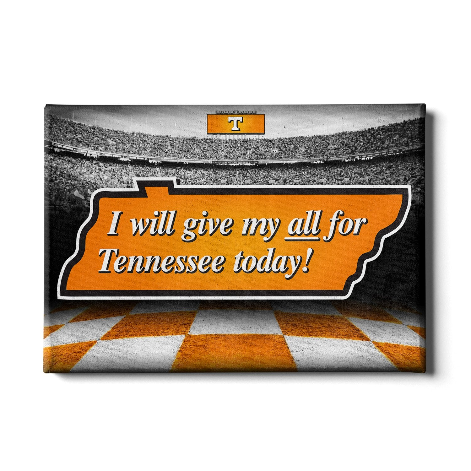Tennessee Volunteers - Give My All For TN - College Wall Art #Canvas