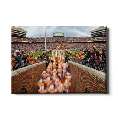 Tennessee Volunteers - Running Onto the Field 2016 - College Wall Art #Canvas