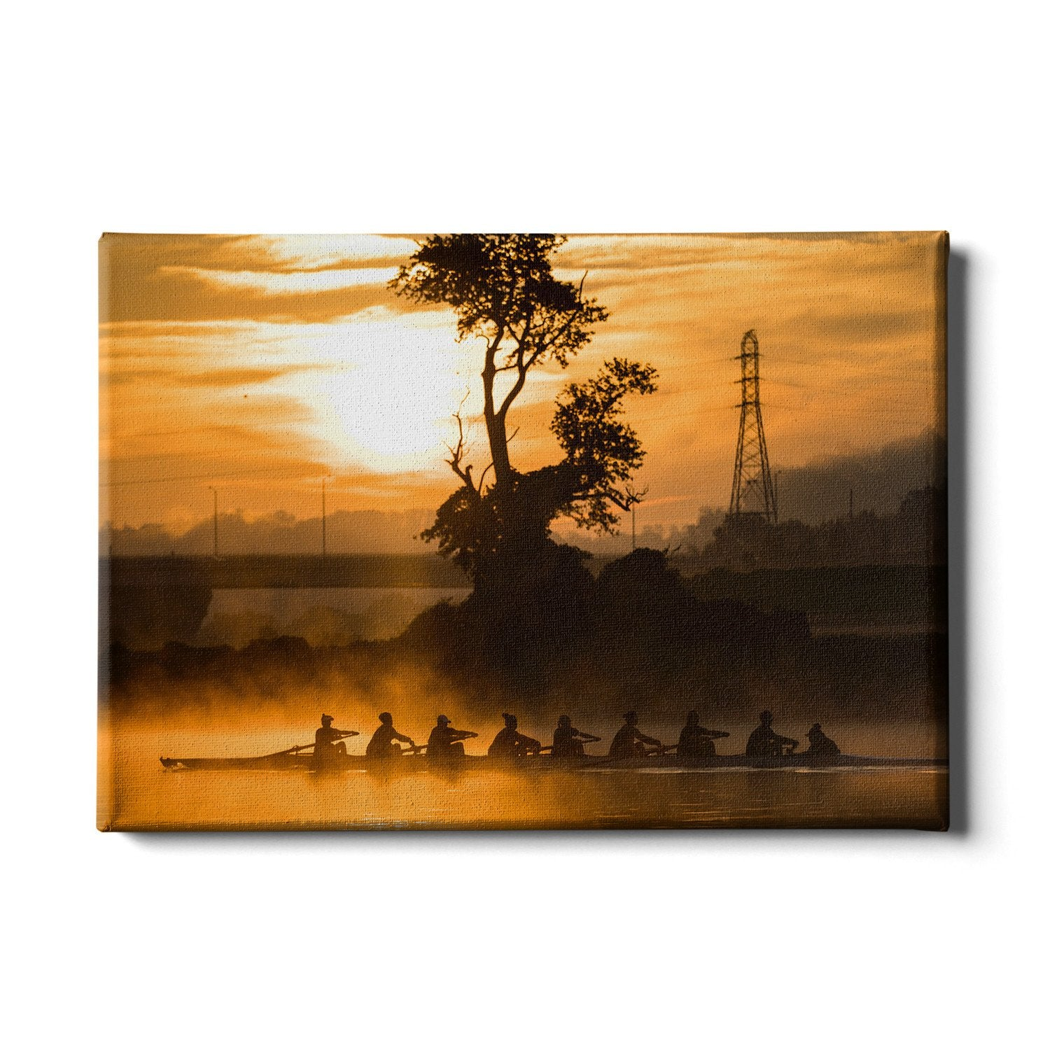 Tennessee Volunteers - Sunrise Row - College Wall Art #Canvas