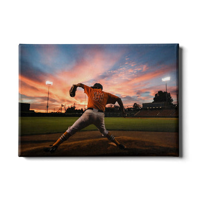 Tennessee Volunteers - Sunset Pitch - College Wall Art #Canvas