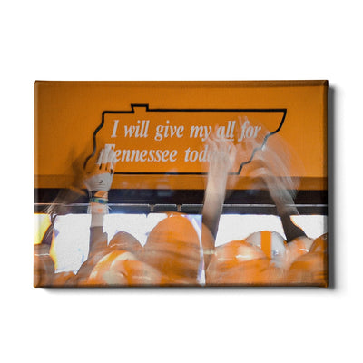Tennessee Volunteers - Give My All - College Wall Art #Canvas