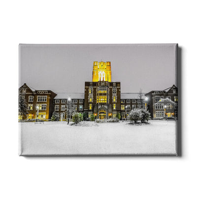 Tennessee Volunteers - Ayres Hall Winter Day - College Wall Art #Canvas