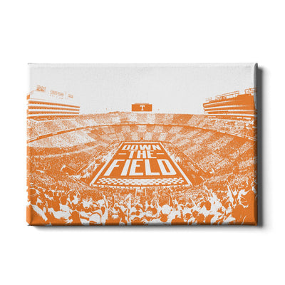 Tennessee Volunteers - Down The Field - College Wall Art #Canvas