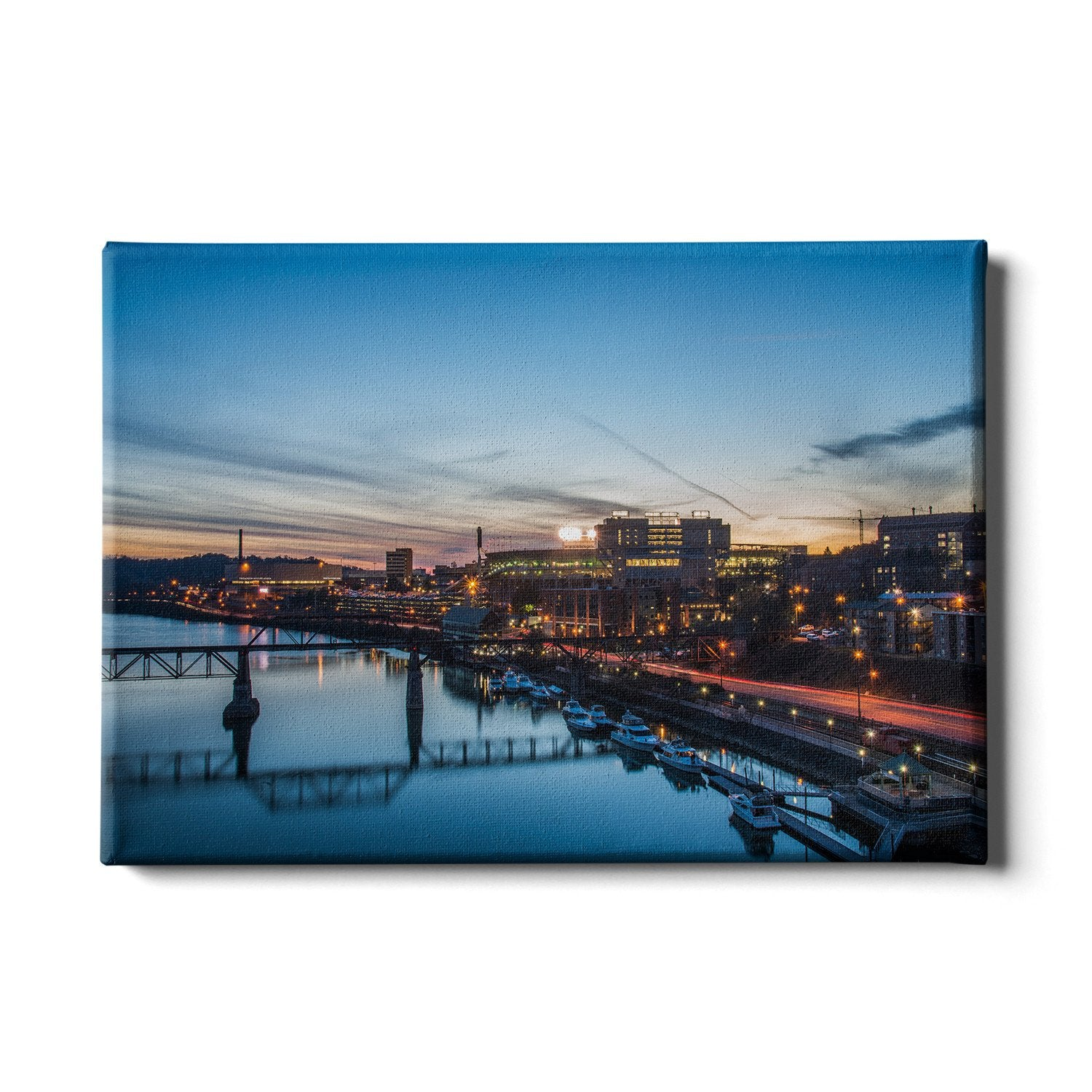 Tennessee Volunteers - River Night - College Wall Art #Canvas
