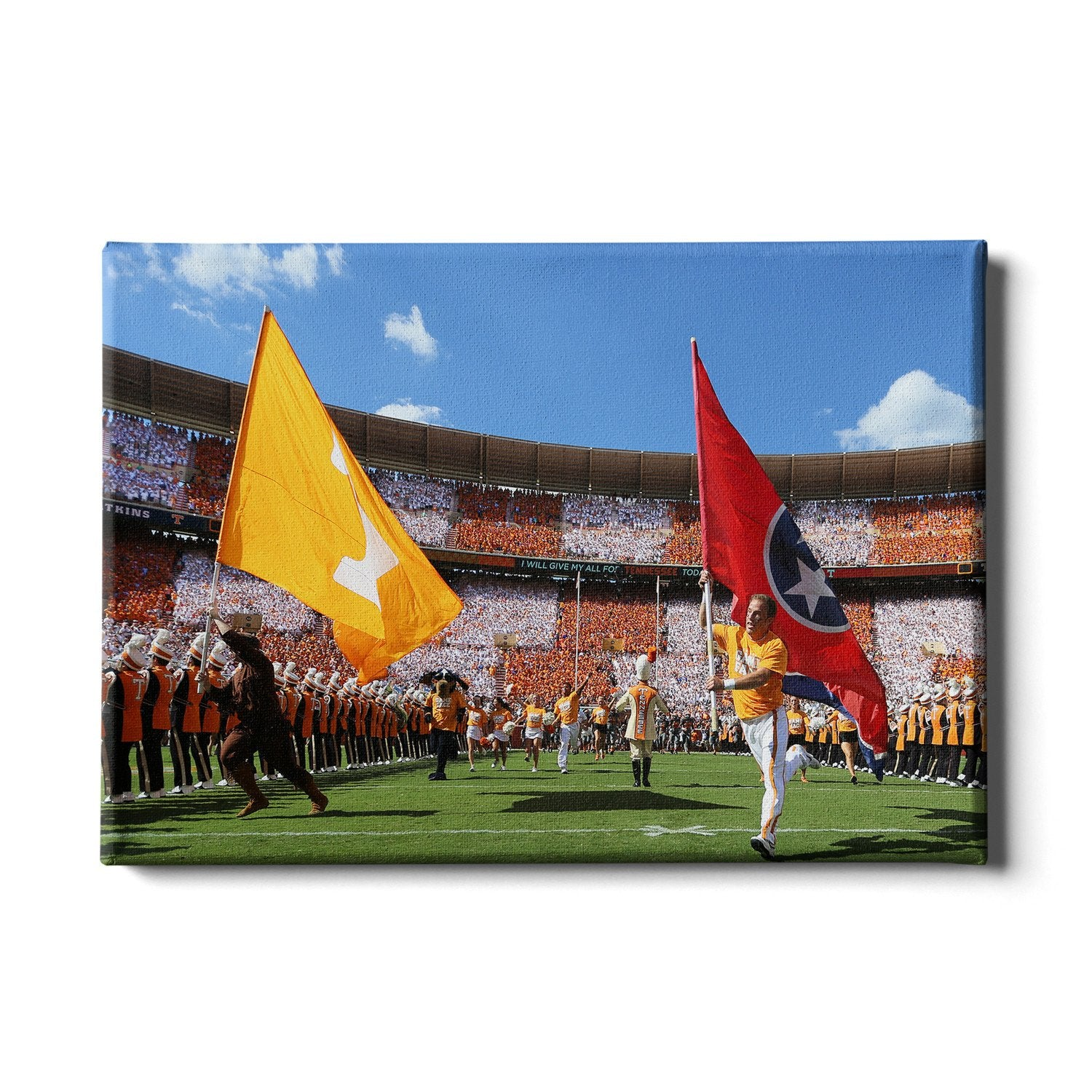 Tennessee Volunteers - Tennessee Checkerboard Neyland - College Wall Art #Canvas
