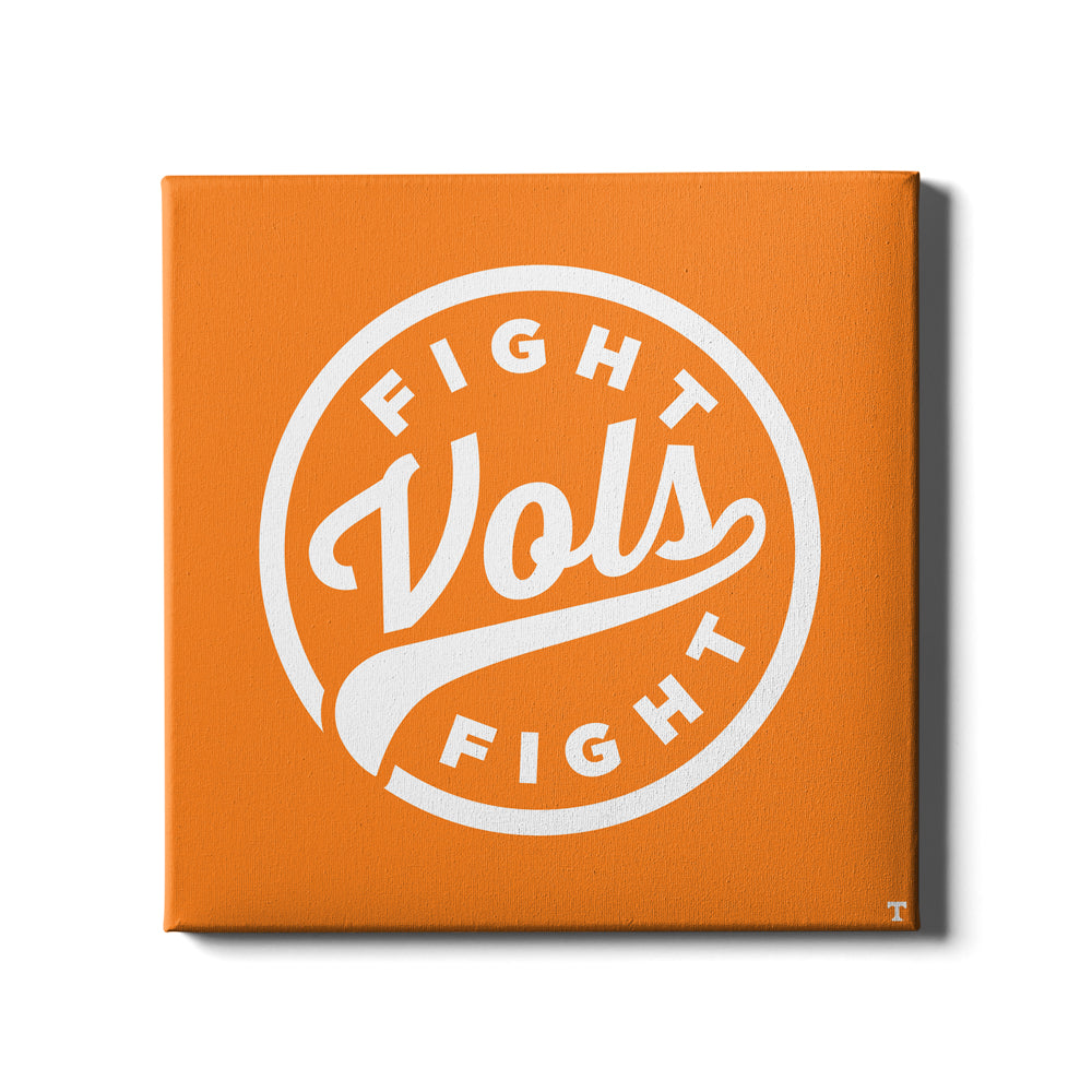 Tennessee Volunteers - Fight Vols Fight Orange - College Wall Art #Canvas
