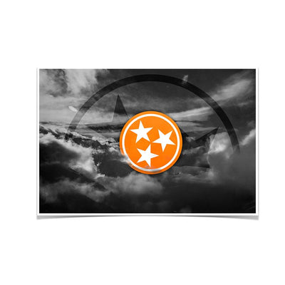 Tennessee Volunteers - Smokey Tri Star - College Wall Art #Poster