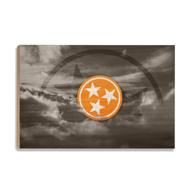 Tennessee Volunteers - Smokey Tri Star - College Wall Art #Wood