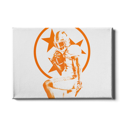 Tennessee Volunteers - Heisman Tri Star - College Wall Art #Canvas