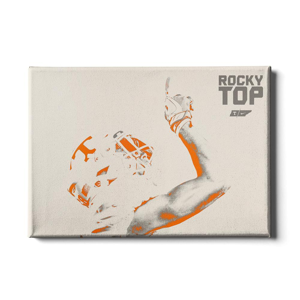 Tennessee Volunteers - One Rocky Top White - College Wall Art #Canvas
