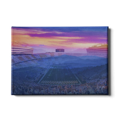 Tennessee Volunteers - Tennessee Mountain Sunset - College Wall Art #Canvas