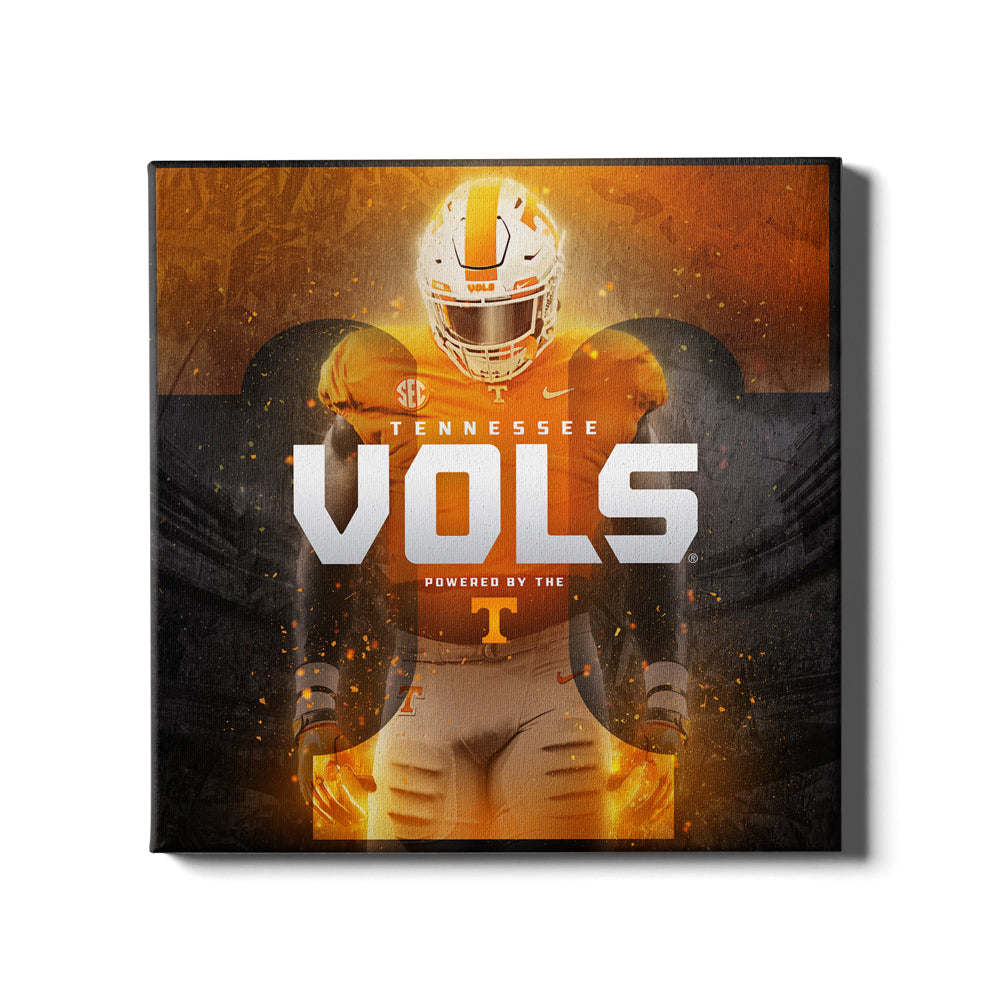 Tennessee Volunteers - Powered By The T Vols - College Wall Art #Canvas