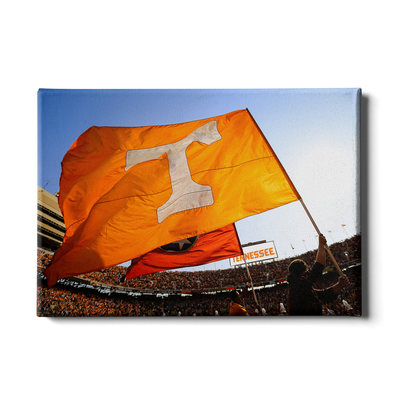 Tennessee Volunteers - T Flags - College Wall Art #Canvas