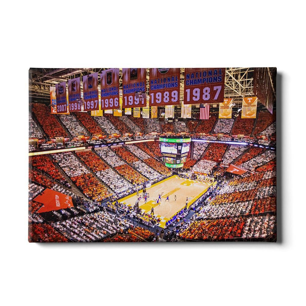 Tennessee Volunteers - Checkerboard Thompson-Boling - College Wall Art #Canvas