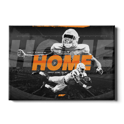 Tennessee Volunteers - Home - College Wall Art #Canvas