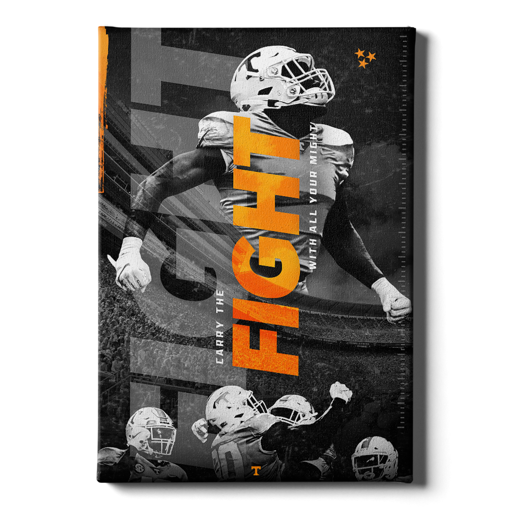 Tennessee Volunteers - Fight - College Wall Art #Canvas