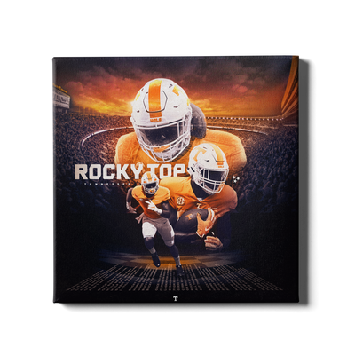 Tennessee Volunteers - Rocky Top Sunset - College Wall Art #Canvas
