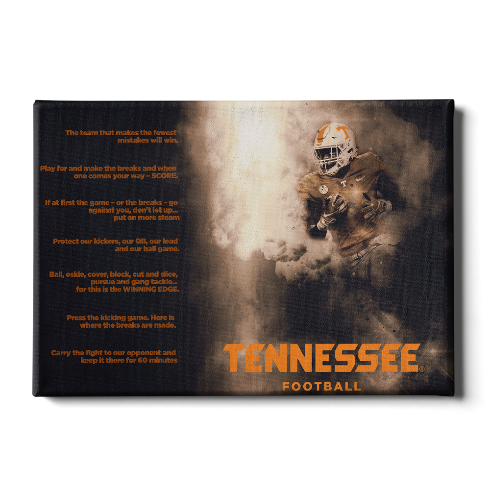 Tennessee Volunteers - Tennessee Football Game Maxims - College Wall Art #Canvas