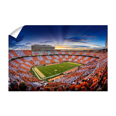 Tennessee Volunteers - Checkerboard Sunset - College Wall Art #Wall Decal