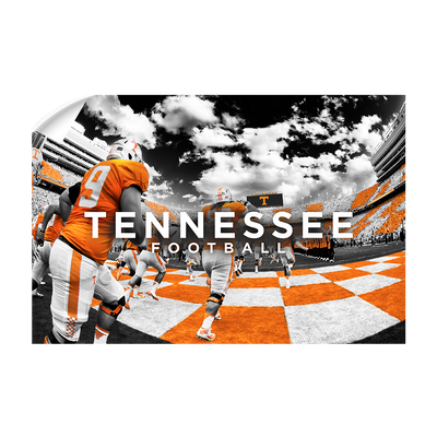 Tennessee Volunteers - Running Through the T Nike - College Wall Art #Wall Decal