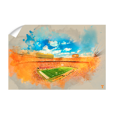Tennessee Volunteers - Neyland Watercolor - College Wall Art #Wall Decal