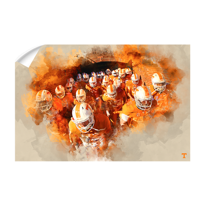 Tennessee Volunteers - Taking the Field Watercolor - College Wall Art #Wall Decal