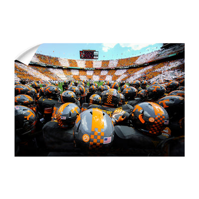 Tennessee Volunteers - Running onto the Field TN - College Wall Art #Wall Decal