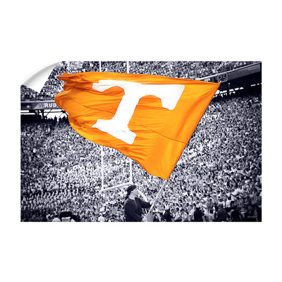Tennessee Volunteers - Smokey Flag - College Wall Art #Wall Decal